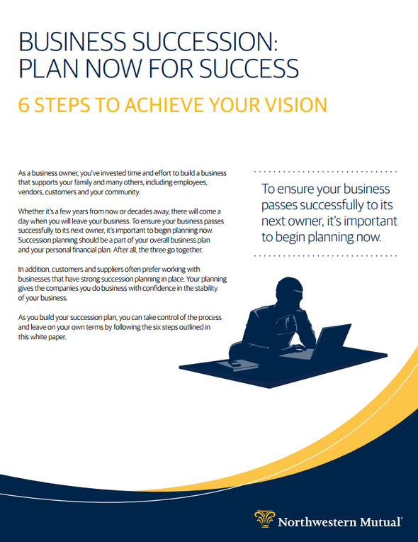 Business Succession Planning Whitepaper cover art